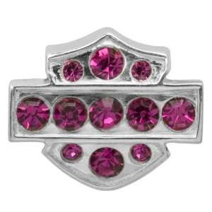 Sterling Silver Bar & Shield Ruby Crystal Ride Bead. HDD0066 Jewelry