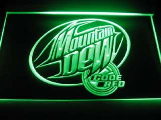 Mountain Dew Code Red Logo Beer Bar Pub Store Neon Light Sign Neon