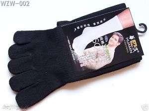 Pairs Five Toe Tabi Socks black Size Mens