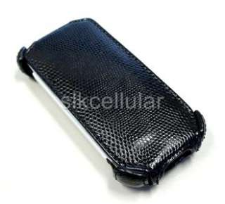 OEM TMOBILE MYTOUCH 3G BLACK HARD LEATHER CASE COVER