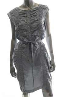 Boss Hugo Boss Blue Casual Dress BHFO Ruched 6