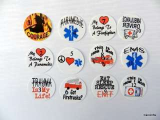 50 Precut Firefighter/EMS/EMT Bottle Cap Images