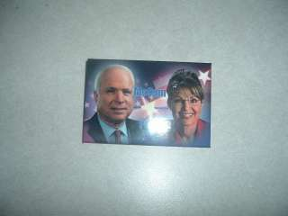 POLITICAL CAMPAIGN BUTTON JOHN McCAIN AND SARAH PALIN 2008