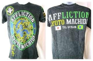 Lyoto Machida Brazil Flag Affliction Premium Black T shirt New