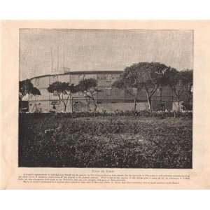 1898 Print Plaza De Toros Cuba Bull Fighting Ring