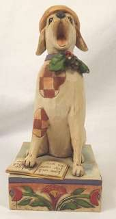 SINGING DOG CAROLER ENESCO HEARTWOOD CREEK JIM SHORE COLLECTION