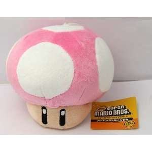 NINTENDO SUPER MARIO BROS MUSHROOM PLUSH DOLL 4.5 HUGE