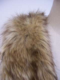 Vintage Trend Celeb Mixed Brown Color Faux Fur Vest One Size