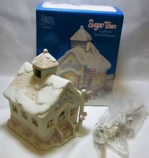 Offering an Enesco Precious Moments Sugar Town Lighted Schoolhouse six