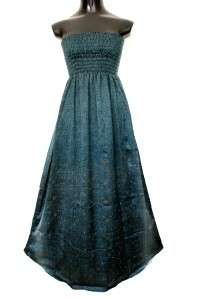 MAXI BOHEMIAN VINTAGE SILK TUBE DRESS/SKIRT LONG LENGTH