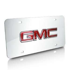 GMC Chrome Steel License Plate Automotive