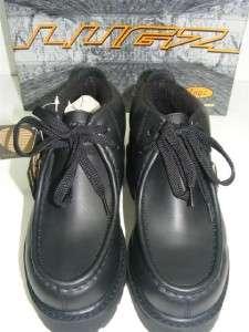 NEW Lugz Strutt Mid Black Leather Boots Size 3.5D