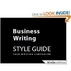 Business Writing Style Guide: Verne Ordman:  Kindle Store