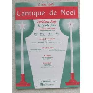 Cantique De Noel (O Holy Night). Christmas Song. For High