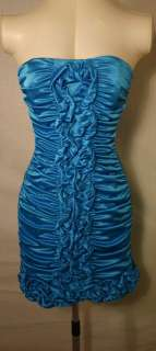 JESSICA McCLINTOCK Turquoise Blue Gown Dress NWT Size 4p