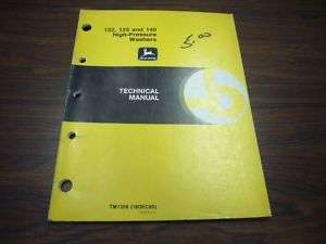 John Deere 122 125 140 High Pres Washr Technical Manual