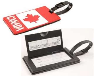 Delue Canadian Flag Luggage Tags suit cases back pack