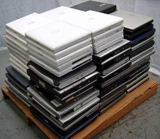 Lot of 80 Business Laptop Toshiba/Dell/Lenovo Pentium PM/Centrino/P4
