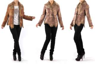 Faux Fur Leather like Women Winter Jacket Coat M DHL Speedy Free