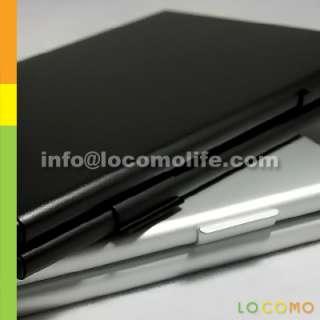 Aluminum Credit Business Card Case Holder 2 Layer BLACK