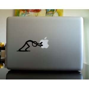 Apple Macbook Vinyl Decal Sticker   Stick Figure