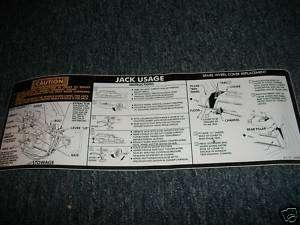 1977   1989 OLDSMOBILE STATION WAGON CRUISER JACK DECAL