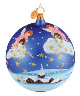 RADKO Celestial Stardust Angels Christmas Ornament NEW Hand Painted