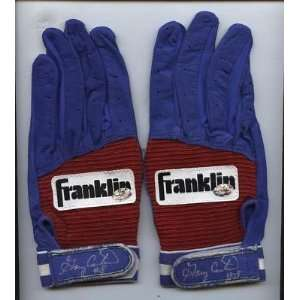 Gary Carter Franklin Game Issued Batting Glove Auto (2