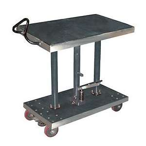 Stainless Steel Hydraulic Post Lift Table 20 X 36 1000 Lb. Capacity