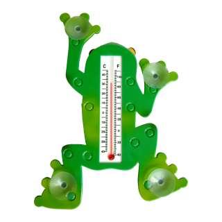 Indoor Outdoor Frog Designed Window Thermometer 886511037618