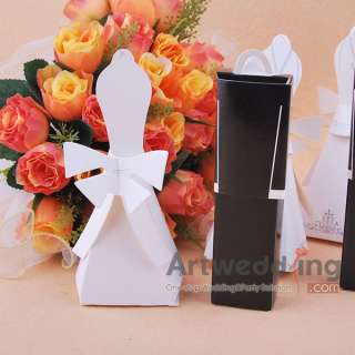 120PC BRIDE DRESS/GROOM TUXEDO Wedding Favor Boxes gift