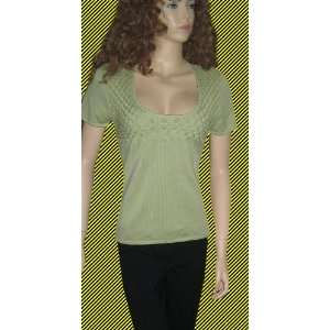 Victorias Secret $38 Green Short Sleeved Sweater XS