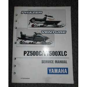 PZ500C VT500XLC Snowmobile Service Repair Manual OEM yamaha Books