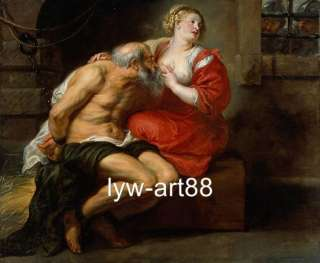 Art old master Antique Rubens oil painting Cimon and Pero