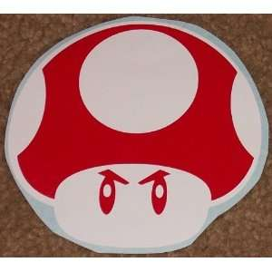 MAD MUSHROOM Power Up 2 Color Red on White High Quality Vinyl Sticker