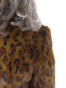 RICHARDS LEOPARD EXOTIC SPOTTED CAT RABBITS FUR JACKET COAT~M