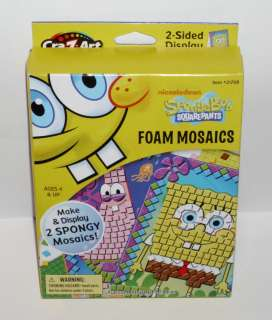 Nickelodeon SpongeBob SquarePants Foam Mosaics, Ages 4 & Up, NIP