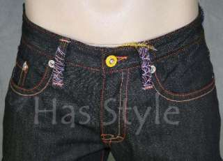 Christian Audigier Mens Skull SPIDERWEB Jeans RAW 32