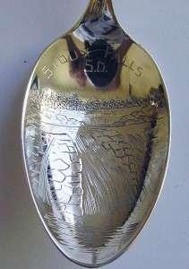 Antique Sterling Silver Sioux Falls South Dakota Spoon