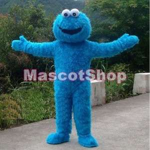 NEW SESAME STREET COOKIE MONSTER ADULT MASCOT CARTOON COSTUME SUIT