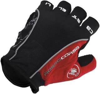CASTELLI Rosso Corsa CYCLING GLOVES Black/Red MEDIUM