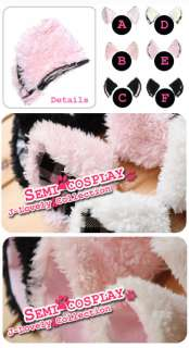 Cute Cat ear Hair Clip pin Lolita Gothic fancy Cosplay