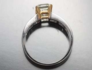 69 CT. EMERALD CUT VVS FACNY YELLOW CERTIFIED DIAMOND ENGAGEMENT