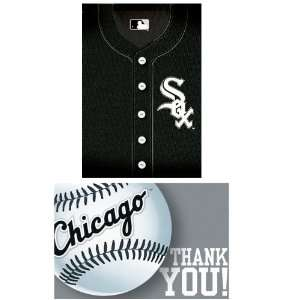 Chicago White Sox Baseball   Invite & Thank You Combo (8 each) Party