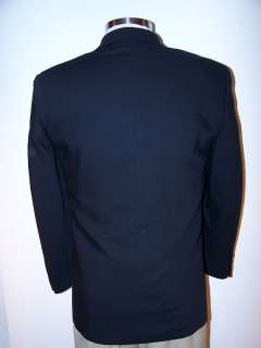 Paulo Solari Athletic Fit Mens Navy 3 Button Blazer size 38R