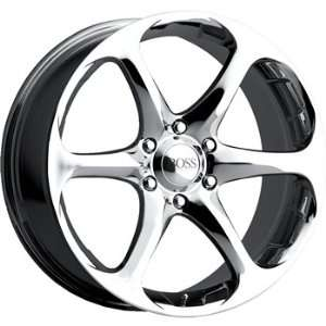 Boss 318 17x8 Chrome Wheel / Rim 4x100 with a 40mm Offset and a 72.64