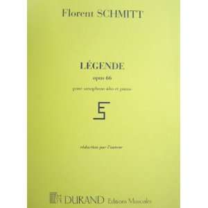 Op.66 for Alto Saxophone and Piano: Florent Schmitt:  Books