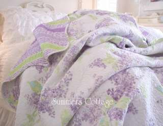 piece shabby lavender cottage lilac chic full queen lilacs quilt set