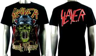Slayer Heavy Metal Rock Punk Band Men T shirt Sz L
