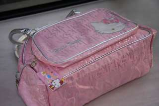 Glisten Hello Kitty pink nylon school bag handbag tote